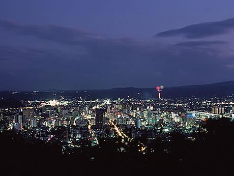 福島市信夫山からの夜景